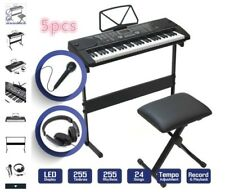 61 Key Music Electronic Keyboard Electric Digital Piano With Microphone & Stand.