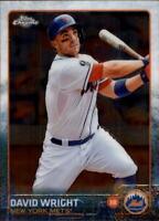2015 Topps Chrome Baseball #102 David Wright New York Mets