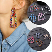 Women Mottled Acrylic Dangle Boho Earrings Ear Drop Resin Fashion Jewelry Gifts
