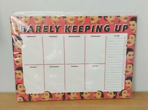 """Kardashians A4 Weekly Planner Note Pad Pages Homework """"Barely Keeping Up"""" Gift"""