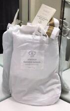 Restoration Hardware Italian Banded Sateen Full Bed Skirt Cotton Flax NEW $129