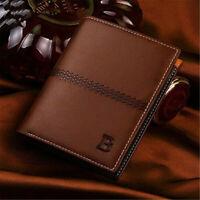 Bifold Wallet Genuine Leather ID Credit Card Holder Mini Men's Purse Money Clip