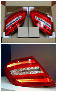 W204 LED Tail Lights Lamp Pair for Mercedes Benz C Class C250 C300 C63 AMG