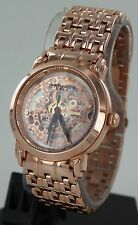 Akribos XXIV Men's Rose Gold Tone Automatic Skeleton Watch (AK-50089)