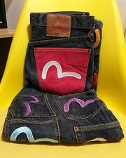 "⭐ Evisu ⭐ - Amazing  32"" waist Multicoloured jeans multi pockets  - 100% genuine"