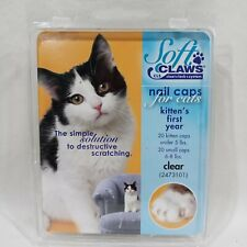 Soft Claws Cls Cleat Lock System - Nail Caps For Cats Kittens First Year - Clear