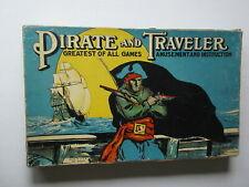 PIRATE AND TRAVELER board game vintage 1936 Milton Bradley - complete RARE