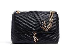 Rebecca Minkoff Edie Medium Convertible Quilted Leather Shoulder Bag Black