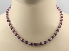 Granat-Kette Rodolith-Granat & Morganit Halskette facettiert für Damen 44 cm