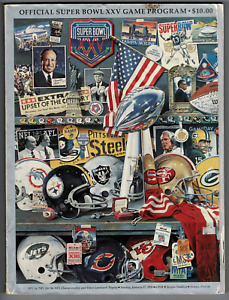 Official NFL Super Bowl XXV program! New York Giants vs Buffalo Bills!