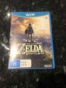 The Legend Of Zelda Breath Of The Wild Nintendo Wii U PAL Mint Disk