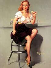 "RETRO PINUP GIRL CANVAS PRINT 24X16"" Poster Gil Elvgren Icecream fail"