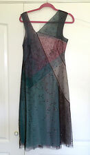 BCBG Max Azria Collection Beaded Tulle Netting dress NWT sz 8