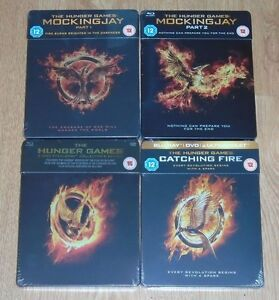 Hunger Games collection (4 blu-rays) Steelbook. NEW & SEALED (Zavvi UK).