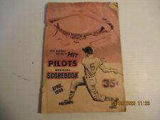 seattle pilots scorebook 1968