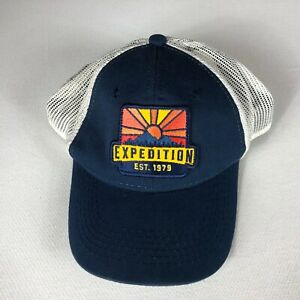 Expedition Patch Hat Adult Mens One Size Trucker Cap Sunrise Sunset Hiking Fish