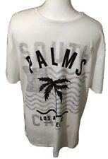 Top Man Mens T Shirt Size XL White short Sleeved New