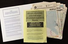 Russian Federation c.1992 Petroleum Economist Set of 17 Maps of Oil, Gas & Coal