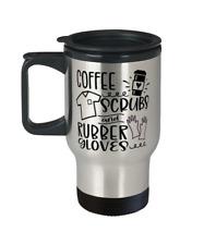 Coffee Scrubs Rubber Gloves03 LPN RN ARNP Nurse Stainless Travel Mug Drinkware