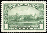 Mint H Canada 1935 VF Scott #215 10c Windsor Castle Silver Jubilee Stamp