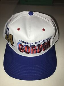 Men's Vintage 90's Chase Jeff Gordon NASCAR Shadow Spell Out Snapback Hat Cap
