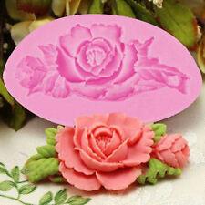 Rose Flower Silicone Cake Mold Fondant Chocolate Decorating Baking Mould DIY AV