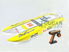 DT E51 Fiber Glass Yellow Electric RC RTR Race Boat W/ Brushless Motor ESC Servo