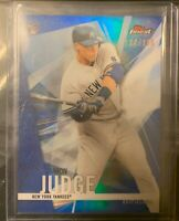 2017 TOPPS FINEST Aaron Judge RC BLUE REFRACTOR # /150 Yankees Rookie