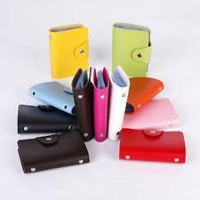 PU Leather Cards Business Name ID Credit Card Case Book Holder Keeper Organizer.