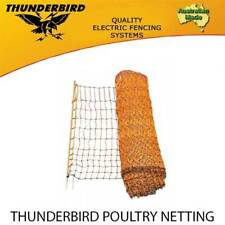 THUNDERBIRD POULTRY NETTING PREMIUM ELECTRIC FENCE NET 50m X 112cm FENCING