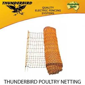 THUNDERBIRD POULTRY NETTING PREMIUM ELECTRIC FENCE 50m X 112cm CHICKEN FENCING