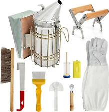 Beekeeping Supplies Honey Tools Starter Kit Set Of 10 Hive Smoker Equipment