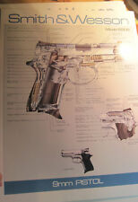 """Smith & Wesson """"9mm Pistol"""" Poster"""