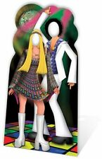 DISCO COUPLE STAND- IN LIFESIZE CARDBOARD CUTOUT 1970s 1980s Party decoration