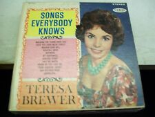 Teresa Brewer-Songs Everybody Knows-LP-Vinyl-Coral-CRL757361-VG