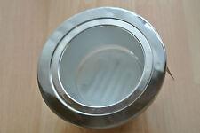 Robus RRGX9 Low Energy Downlight Chrome c/w GX53 9w bulb - 128mm, 107mm cutout