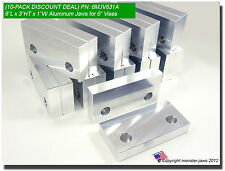 "(10 PACK) 6 x 3 x 1"" Standard Aluminum Soft Jaws Set Fits Kurt 6"" Vises Discount"