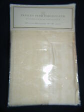 Tablecloth Damask Paisey Park  60 X 84 Oblong  NIB  Ivory/Cream Color