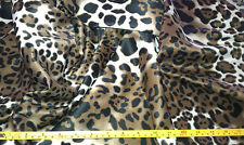 """LEOPARD/BLK/BRN/WHT 100% POLY  LAMOUR SATIN FABRIC 58""""WIDE BY THE YARD"""