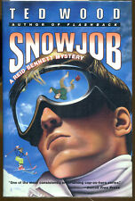 Snowjob by Ted Wood: A Reid Bennett Mystery-Publisher Review Copy-1st Ed/DJ-1993