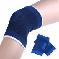 Pair Sports Elastic Knee Leg Brace Protector Support Sleeve Pad Guard Bandage AU