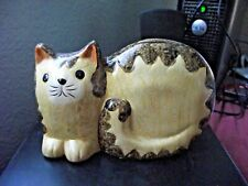 Ceramic Marmalade Cat Ornament - New Other