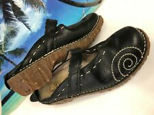 EL NATURALISTA YGGDRASIL PRADO BLACK LEATHER CLOGS SZ 40 9-9.5 M GUC