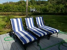 Classic Iron Chaise Pool Recliners with Cushions from Frontgate