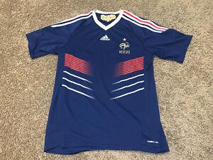 ADIDAS FRENCH FOOTBALL FEDERATION/FFF Mens Soccer Jersey Medium M Climacool
