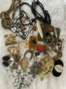 Lovely Collection of Victorian Deco Jewellery for spares/repair