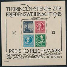 SBZ großer Weihnachtsblock 1945** Michel Block 2 x Attest (S15107)