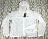 Under Armour Storm HeatGear Women Packable Running Full Zip Hooded Jacket Size L