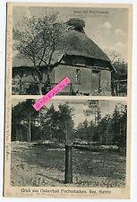 Postkarte um 1934 :  Ostseebad Fischerkathen / Pogorzelica in 2 Ansichten