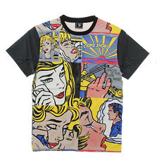 Coke Boys Men's Comic Art PU Short Sleeve T Shirt